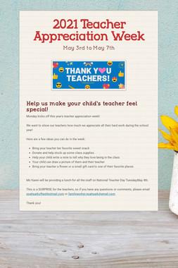 2020 Teacher Appreciation Week