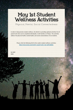 May 1st Student Wellness Activities