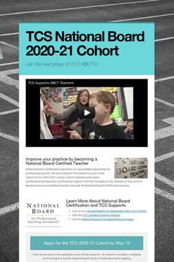 TCS National Board 2020-21 Cohort
