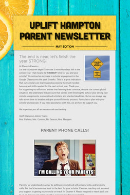 Uplift Hampton Parent Newsletter