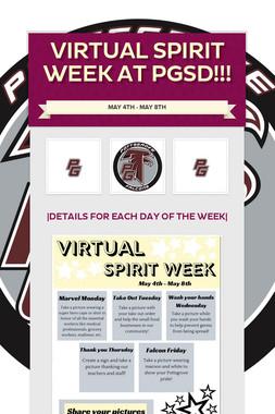 Virtual Spirit Week at PGSD!!!