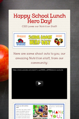 Happy School Lunch Hero Day!
