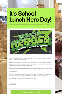It's School Lunch Hero Day!
