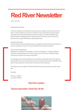 Red River Newsletter