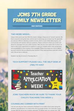 JCMS 7th Grade Family Newsletter