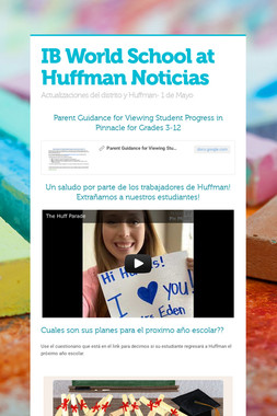 IB World School at Huffman Noticias