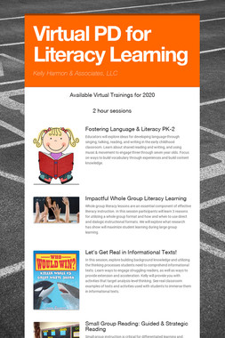 Virtual PD for Literacy Learning