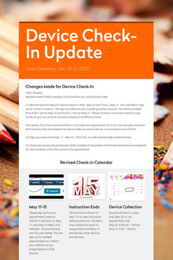 Device Check-In Update