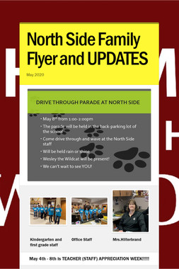 North Side Family Flyer and UPDATES