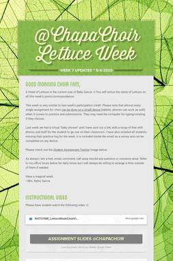 @ChapaChoir Lettuce Week