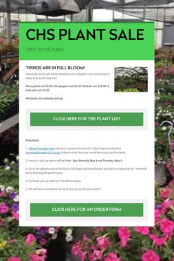 CHS PLANT SALE