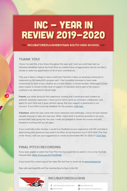 INC - Year in Review 2019-2020