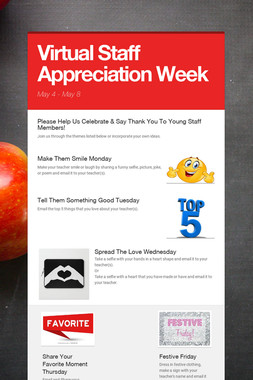 Virtual Staff Appreciation Week