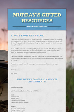 Murray's Gifted Resources