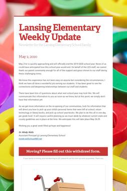 Lansing Elementary Weekly Update
