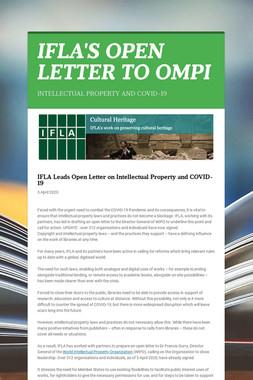 IFLA'S OPEN LETTER TO OMPI
