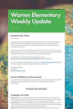 Warren Elementary Weekly Update