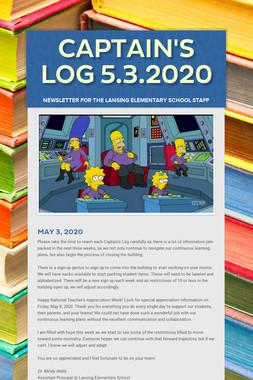 Captain's Log 5.3.2020