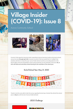 Village Insider (COVID-19): Issue 8