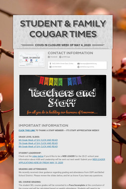Student & Family Cougar Times