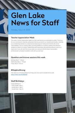 Glen Lake News for Staff