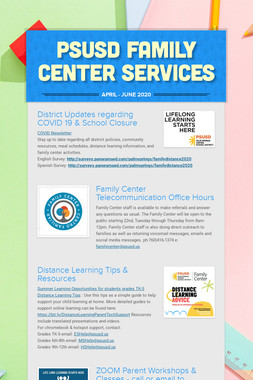 PSUSD Family Center Services