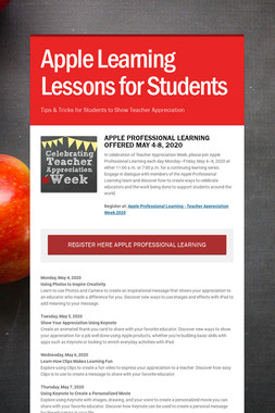 Apple Learning Lessons for Students
