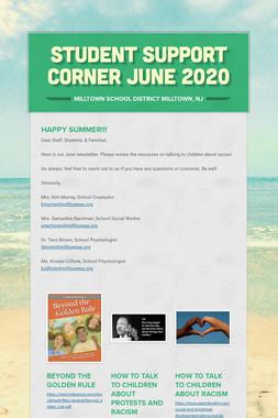 Student Support Corner June 2020