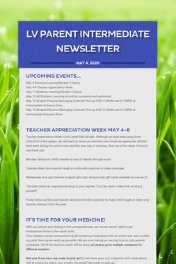 LV Parent Intermediate Newsletter