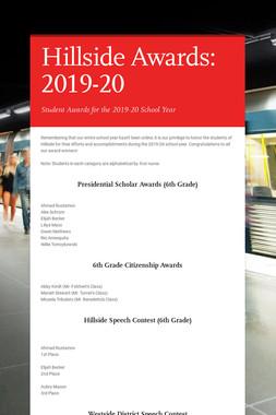 Hillside Awards: 2019-20