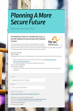 Planning A More Secure Future