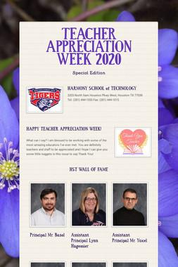 TEACHER APPRECIATION WEEK 2020