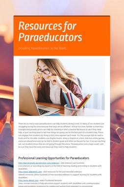 Resources for Paraeducators