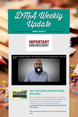 DMA Weekly Update