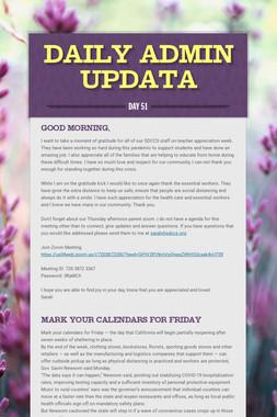 Daily Admin Updata
