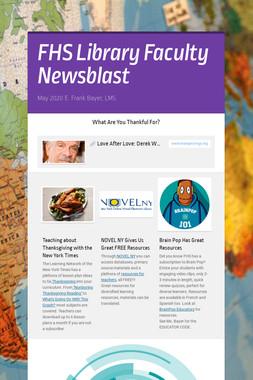 FHS Library Faculty Newsblast