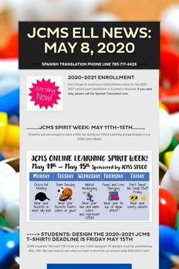 JCMS ELL News:   May 8, 2020