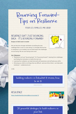 Bouncing Forward-Tips on Resilience