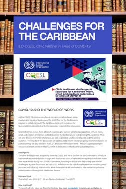 CHALLENGES FOR THE CARIBBEAN