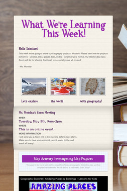 What We're Learning This Week!