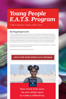Young People E.A.T.S. Program