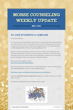 Morse Counseling Weekly Update