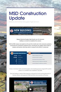 MSD Construction Update
