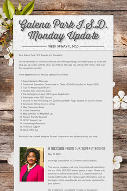 Galena Park I.S.D. Monday Update