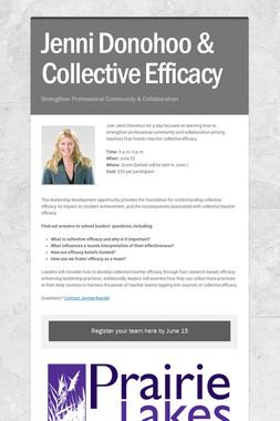 Jenni Donohoo & Collective Efficacy