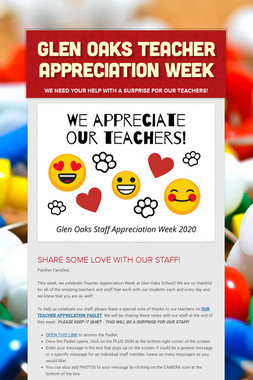 Glen Oaks Teacher Appreciation Week