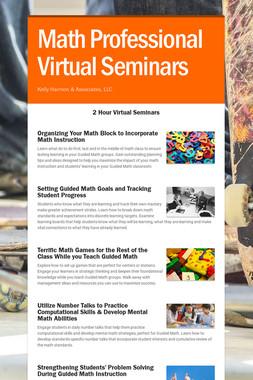 Math Professional Virtual Seminars