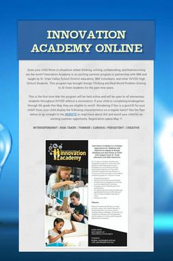 Innovation Academy Online