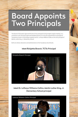 Board Appoints Two Principals