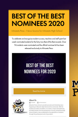 BEST OF THE BEST NOMINEES 2020
